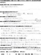 京都市南区にお住まいのY.K様(53才、女性、美容師)直筆メッセージ