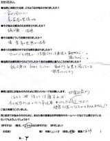 京都市にお住まいのK.Y様(62才、女性、主婦)直筆メッセージ